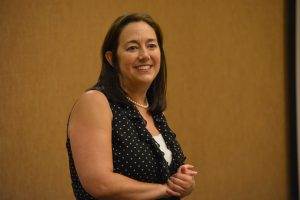 Erin Gruwell Founder of the Freedom Writers Foundation conducting an exercise at our Freedom Writer Teachers Institute
