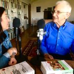 New York Times Best Selling author of memoir from Vietnam and the Pentagon Papers Daniel Ellsberg recording a podcast episode with Erin Gruwell, founder of the freedom writers foundation.