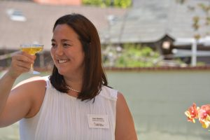 Erin Gruwell leads the Toast For Change at the Freedom Writer Teachers Institute in Long Beach California.