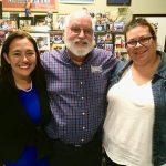 Father Greg Boyle of Homeboy Industries standing with Freedom Writer Foundation Founder Erin Gruwell and Original Freedom Writer Sue Ellen