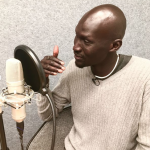 Ger Duany interviewing for the Freedom Writers Podcast by Freedom Writers Foundation founder Erin Gruwell.