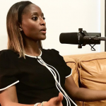 Isha Sesay being interviewed for our Freedom Writer Podcast by Freedom Writers Founder Erin Gruwell