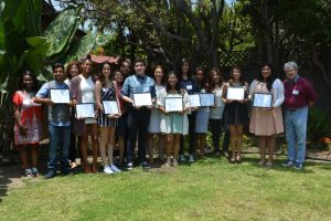 Wilson High School Freedom Writer Scholars receiving their Freedom Writers Scholarships in 2015