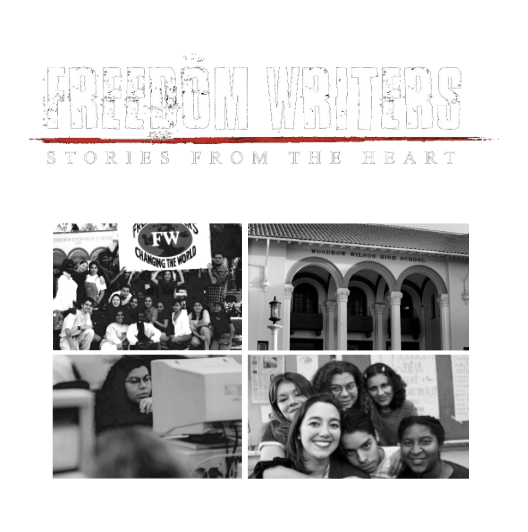 Freedom Writers Story from the Heart Documentary Poster Transparency about the Freedom Writers and Freedom Writers Foundation.