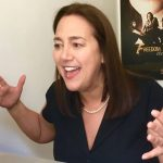 Freedom Writers Foundation founder Erin Gruwell hosting an educational video chat.